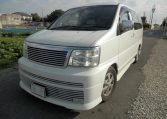 2001 Nissan Elgrand E50, 3.5 V6 Rider, Optional 4WD, Auto 8 Seater MPV (E20), Front View, Passengers Side