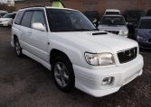 2001 Subaru Forester 2.0 STB Turbo Auto Estate (S56), Front View, Drivers Side. Japanese imports.