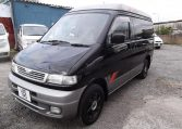 1995 Mazda Bongo 2.5 TD Autofreetop Friendee Auto 8 Seater 4WD MPV, 4 Berth Camper (P80), Front View, Passengers Side, Japanese import cars at All Japanese Motors.