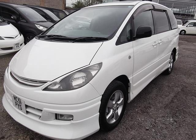 2001 Toyota Estima 2.4 Auto 7 Seater LPG Converted MPV (P28), Front View, Passengers Side, Japanese import cars at All Japanese Motors.