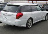 2004 Subaru Legacy 2.0 GT Spec Twin Scroll BP5 Turbo Auto Estate (S38), Rear View, Drivers Side. Jap imports UK.