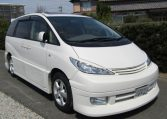 2005 Toyota Estima 3.0 V6 VVTI Four Cam MCR40 Auto 7 Seater MPV (C1), Front View, Drivers Side, Japanese imports by KV Cars.