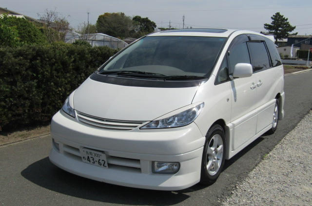 2005 Toyota Estima 3.0 V6 VVTI Four Cam MCR40 Auto 7 Seater MPV (C1), Front View, Passengers Side, Japanese import cars at All Japanese Motors.