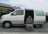 1998 Nissan Elgrand 3.3 Auto Disabled Access Electric Chair 7 Seater MPV (A6), Side View, Passengers Side, Sliding Door for disability chair . Import Japanese cars uk.