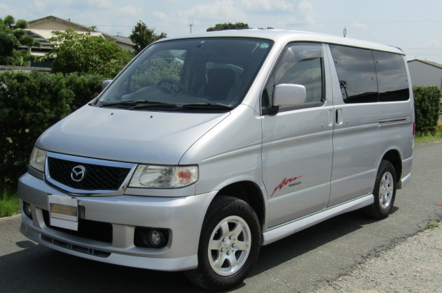 2003 Mazda Bongo 2.0 Sgew City Runner Auto 8 Seater MPV (B74), Front View, Passengers Side. Japanese imports for sale.