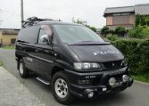 2003 Mitsubishi Delica 3.0 V6 Auto Optional 4wd Chamonix 7 Seater MPV (R32), Front View, Drivers Side. Japanese imports.