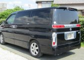 2003 Nissan Elgrand 3.5 V6 Auto Highway Star With Disabled Access Seat With Wheel Chair (A21), Rear View, Passengers Side. Japanese car imports UK.