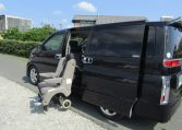 2003 Nissan Elgrand 3.5 V6 Auto Highway Star With Disabled Access Seat With Wheel Chair (A21), Side View, Passengers Side, Sliding Door. Import Japanese cars uk.