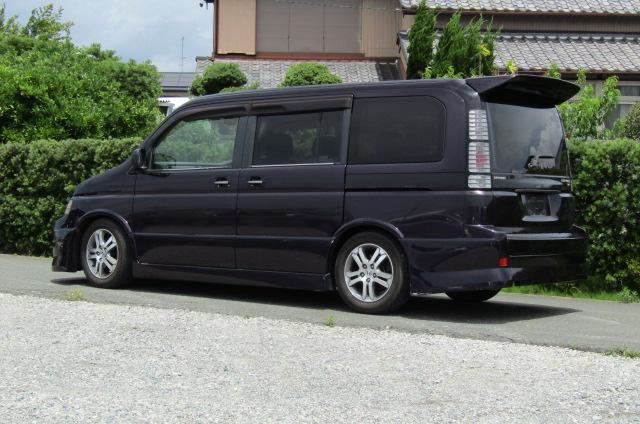 2004 Honda Stepwagon 2.4ivtec 24t RF7 Spada Auto 8 Seater MPV (H55), Front View, Passengers Side, Japanese import cars.