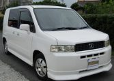 2002 Honda Mobilio 1.5 Spike Gk1 Auto 5 Seater Mini MPV (H86), Front View, Drivers Side. Japanese imports.