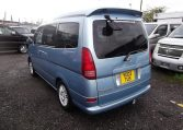 2002 Nissan Serena 2.0 Auto 7 Seater Mpv With Electric Disabled Chair And Rear Electric Ramp, Blue(A2), Rear View, Passengers Side. Japanese car imports UK.