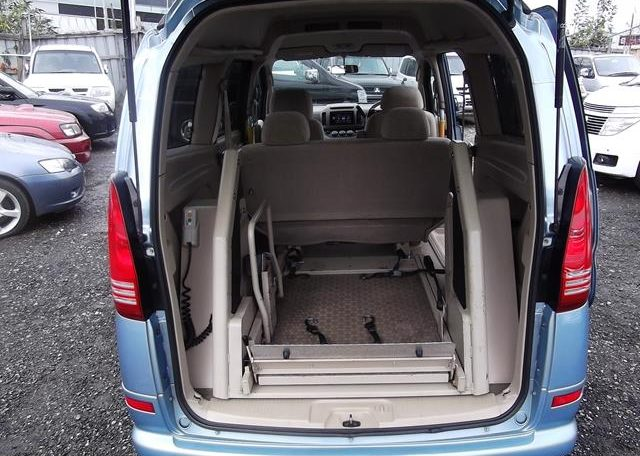 2002 Nissan Serena 2.0 Auto 7 Seater Mpv With Electric Disabled Chair And Rear Electric Ramp, Blue(A2), Interior View Rear Disabilty Ramp Fully Retracted