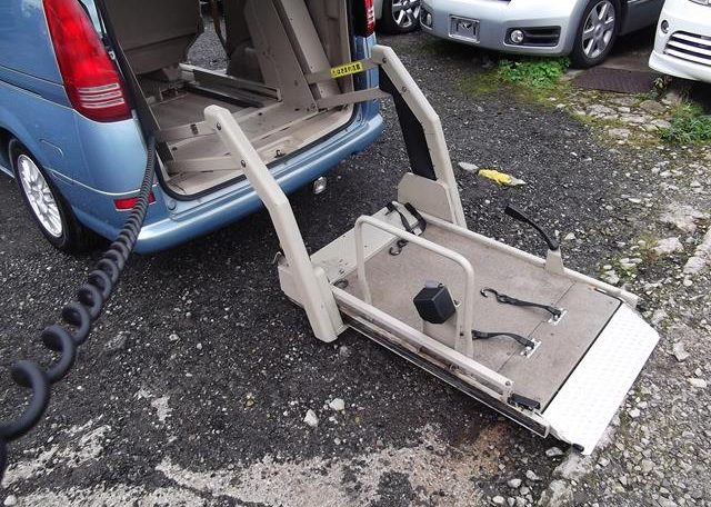 2002 Nissan Serena 2.0 Auto 7 Seater Mpv With Electric Disabled Chair And Rear Electric Ramp, Blue(A2), Interior View Rear Disabilty Ramp Side View