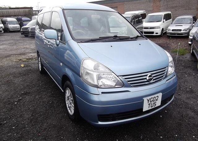 2002 Nissan Serena 2.0 Auto 7 Seater Mpv With Electric Disabled Chair And Rear Electric Ramp, Blue(A2), Front View, Drivers Side. Japanese imports.