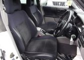 2002 Subaru Forester 2.0 Manual Stb Turbo 4WD Estate, White (S33), Interior View Front Seats. Japanese imports.