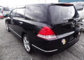 2004 Honda Odyssey 2.4 Ivtec Auto 7 Seater MPV, Black (P9), Rear View, Passengers Side