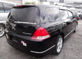 2004 Honda Odyssey 2.4 Ivtec Auto 7 Seater MPV, Black (P9), Rear View, Drivers Side