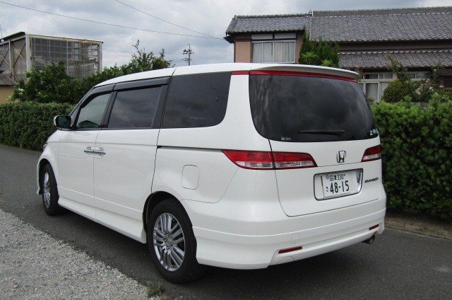 2006 Honda Elysion 2.4 G Aero Vtec Rr1 Auto 8 Seater MPV, White (H85), Rear View, Passengers Side