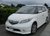 2006 Honda Elysion 2.4 G Aero Vtec Rr1 Auto 8 Seater MPV, White (H85), Front View, Passengers Side, Japanese import cars at All Japanese Motors.