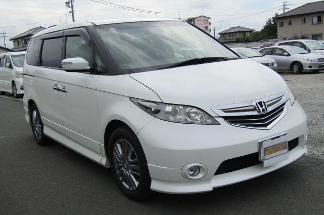 2006 Honda Elysion 2.4 G Aero Vtec Rr1 Auto 8 Seater MPV, White (H85), Front View, Drivers Side, Japanese imports by KV Cars.