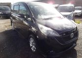 2006 Honda Stepwagon 2.4 Rg3 Auto 8 Seater MPV, Black (H83), Front View, Drivers Side, Japanese imports.