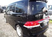 2006 Honda Stepwagon 2.4 Rg3 Auto 8 Seater MPV, Black (H83), Rear View, Passengers Side