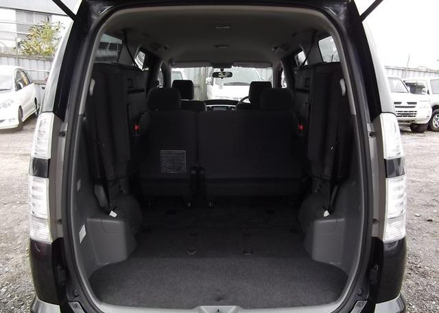 2006 Toyota Voxy 2.0 X Ltd Edn 4WD Auto 8 Seater MPV, Grey (V33), Interior View Rear Seats Down For Storage. Japanese import cars for sale.