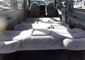 1997 Toyota Regius 3.0 TD Auto 8 Seater MPV (P42), Interior View Rear Seats Down Made Into A Bed. Japanese import cars for sale UK.