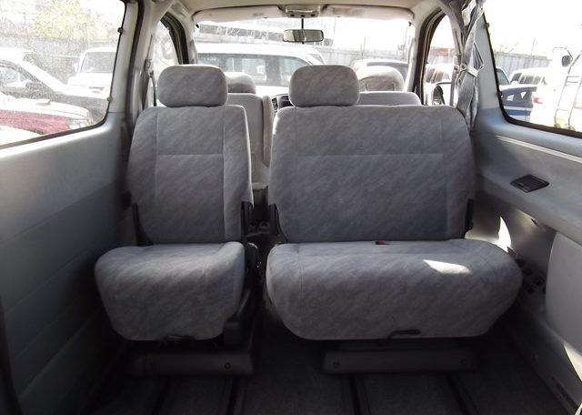 1997 Toyota Regius 3.0 TD Auto 8 Seater MPV (P42), Interior View Rear Seats. Jap imports.