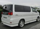 1999 Nissan Elgrand 3.3 V6 Auto Optional 4WD E50 Rider Autec 8 Seater MPV (E8), Rear View, Drivers Side. Jap imports UK.