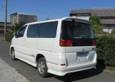 2000 Nissan Elgrand 3.5 Auto Highway Star 8 Seater MPV (E2), Rear View, Passengers Side. Japanese car imports UK.