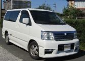 2000 Nissan Elgrand 3.5 Auto Highway Star 8 Seater MPV (E2), Front View, Drivers Side. Japanese imports.