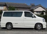 2000 Nissan Elgrand 3.5 Auto Highway Star 8 Seater MPV (E2), Side View, Drivers Side. Import Japanese cars uk.