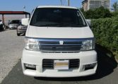 2000 Nissan Elgrand 3.5 Highway Star Auto Optional 4WD 8 Seater MPV (E91), Front View. Jap imports.
