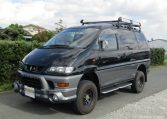 2002 Mitsubishi Delica 3.0 V6 Auto Chamonix Optional 4WD 8 Seater MPV For Sale (R55), Front View, Passengers Side. Japanese imports for sale.