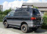 2002 Mitsubishi Delica 3.0 V6 Auto Chamonix Optional 4WD 8 Seater MPV For Sale (R55), Rear View, Passengers Side. Jap imports UK.