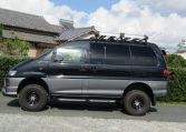 2002 Mitsubishi Delica 3.0 V6 Auto Chamonix Optional 4WD 8 Seater MPV For Sale (R55), Side View, Passengers Side. Import Japanese cars uk.