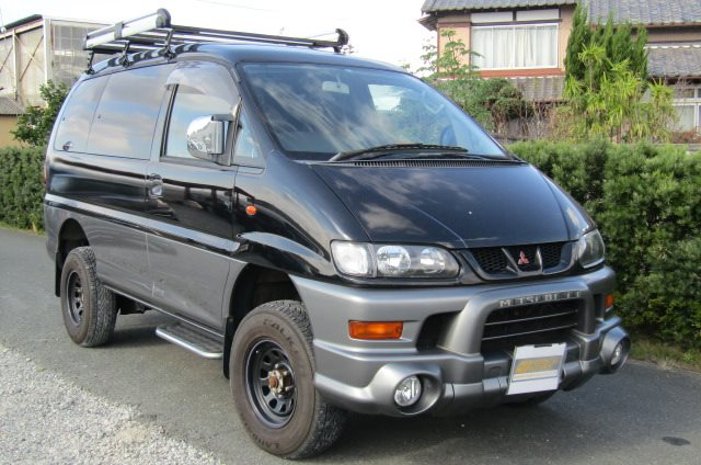 2002 Mitsubishi Delica 3.0 V6 Auto Chamonix Optional 4WD 8 Seater MPV For Sale (R55), Front View, Drivers Side. Japanese imports.