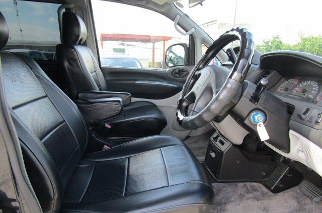 2002 Mitsubishi Delica 3.0 V6 Auto Chamonix Optional 4WD 8 Seater MPV For Sale (R55), Interior View Dashboard & Steering Wheel. Import Japanese cars uk.