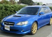 2004 Subaru Legacy 2.0 Gt Spec B Wr Ltd Twin Scroll Bp5 Turbo Auto Estate (S56), Front View, Passengers Side. Japanese imports for sale.
