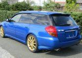 2004 Subaru Legacy 2.0 Gt Spec B Wr Ltd Twin Scroll Bp5 Turbo Auto Estate (S56), Rear View, Passengers Side. Japanese car imports UK.