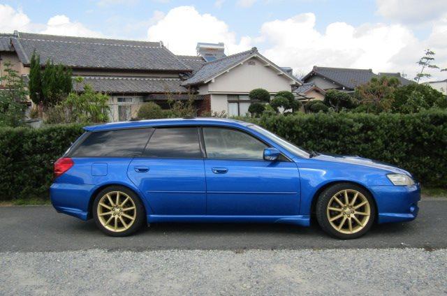 2004 Subaru Legacy 2.0 Gt Spec B Wr Ltd Twin Scroll Bp5 Turbo Auto Estate (S56), Side View, Drivers Side. Import Japanese cars uk.