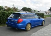 2004 Subaru Legacy 2.0 Gt Spec B Wr Ltd Twin Scroll Bp5 Turbo Auto Estate (S56), Rear View, Drivers Side. Jap imports UK.
