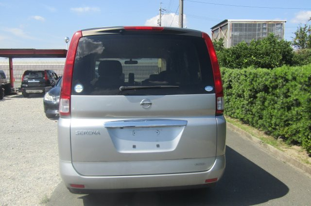 2005 NISSAN SERENA 2.0 Auto Disabled Access Electric Wheel Chair 7 Seater MPV (A66), Rear View. Japanese import cars.