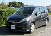 2006 Honda Stepwagon 2.0 GLS Package 4WD Auto 8 Seater MPV (H51), Front View, Passengers Side, Japanese import cars.