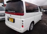 2003 Nissan Elgrand 3.5 E51 V6 Optional 4WD Auto 8 Seater MPV (P22), Rear View, Drivers Side. Jap imports UK.