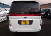 2003 Nissan Elgrand 3.5 E51 V6 Optional 4WD Auto 8 Seater MPV (P22), Rear View. Japanese import cars.