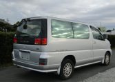 1998 Nissan Elgrand 3.3 E50 Optional 4WD Auto 8 Seater MPV (E87), Rear View, Drivers Side. Jap imports UK.