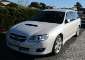 2007 Subaru Legacy 2.0 Gt Si Drive B Spec 4WD Faceligt Auto Estate (S63), Front View, Passengers Side. Japanese imports for sale.