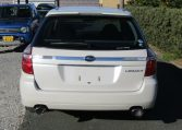 2007 Subaru Legacy 2.0 Gt Si Drive B Spec 4WD Faceligt Auto Estate (S63), Rear View. Japanese import cars.